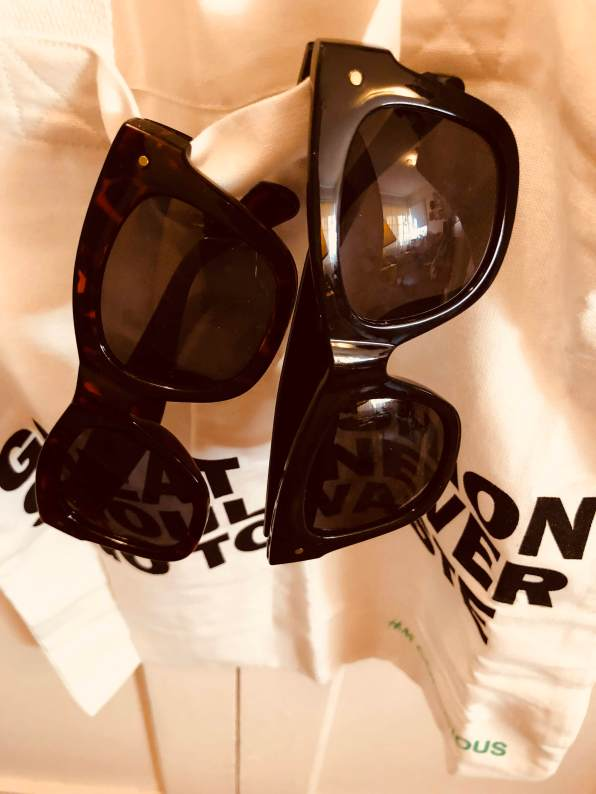 Classic dark shades and white and black tote from H&M
